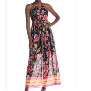 Nicole Miller Halter Maxi Dress